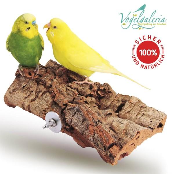 Tolles, großes Korksitzbrett für Vögel 20x10cm - der Renner bei Wellensittich & Co.